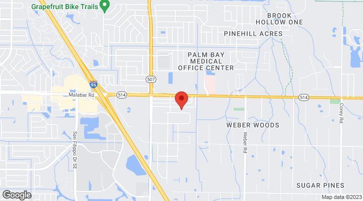 Palm Bay Florida Map.2040 Agoura Circle Se Palm Bay Fl 32909
