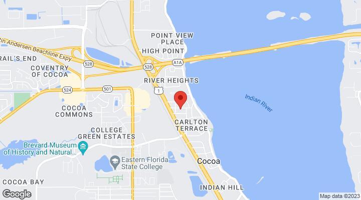Cocoa Florida Map.333 Bellair Drive Cocoa Fl 32922